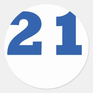 Number 22 classic round sticker