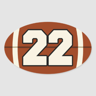 Number 22 Football Sticker