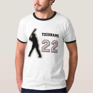 Number 22 Hitter Uniform - Cool Baseball Stitches T-Shirt
