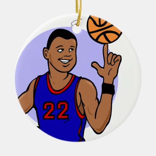 Number 22 spinning the ball christmas ornament