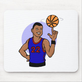 Number 22 spinning the ball mouse pad