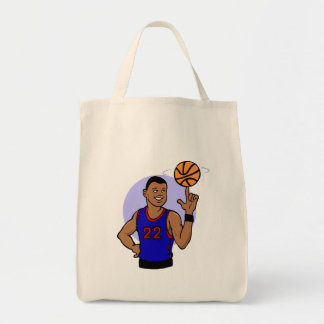 Number 22 spinning the ball tote bag
