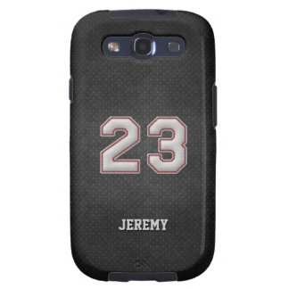 Number 23 Baseball Stitches with Black Metal Look Galaxy SIII Cover