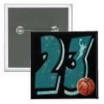 Number 23 Basketball and Player Button