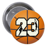 Number 23 Basketball Button