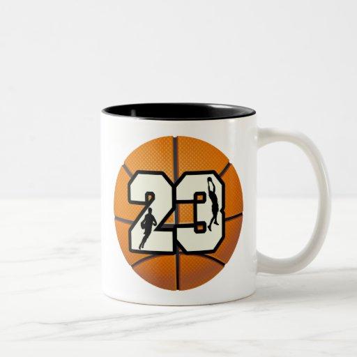 Number 23 Basketball Coffee Mug