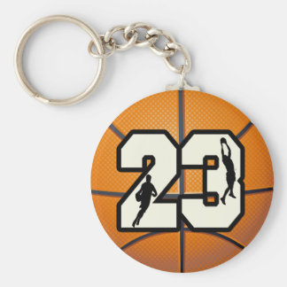 Number 23 Basketball Keychain