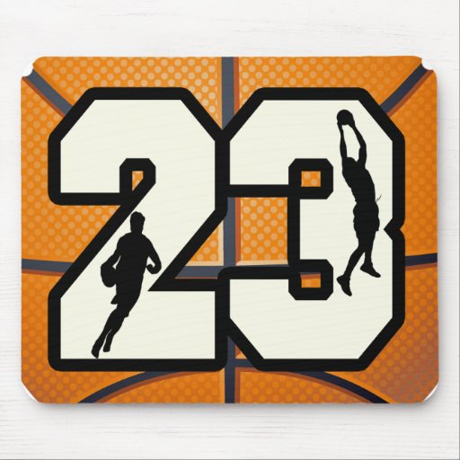 Number 23 Basketball Mouse Pad