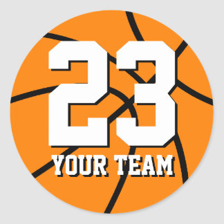 Number 23 basketball sticker | Personalizable name