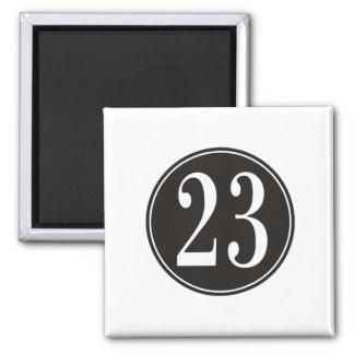 Number 23 - Black Circle (front) Magnet