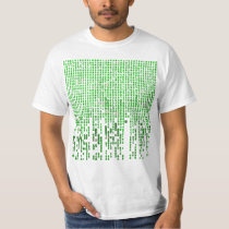 Number 23 Green Matrix Style T Shirt