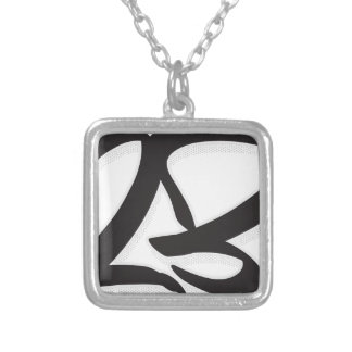 Number 23 silver plated necklace