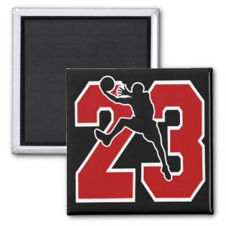 NUMBER 23 WITH BASKETBALL PLAYER MAGNET