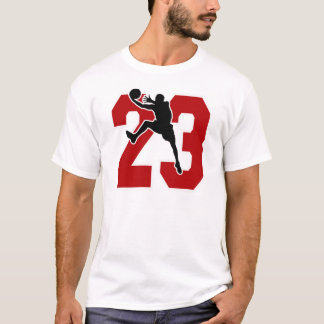 NUMBER 23 WITH BASKETBALL PLAYER T-Shirt