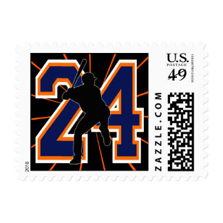 NUMBER 24 BASEBALL PLAYER POSTGE STAMPS