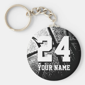 Number 24 basketball keychains | Personalizable
