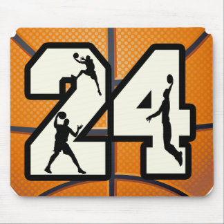 Number 24 Basketball Mouse Pad