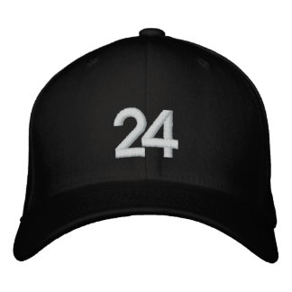 Number 24 embroidered baseball cap