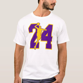NUMBER 24 WITH BASKETBALL PLAYER T-Shirt