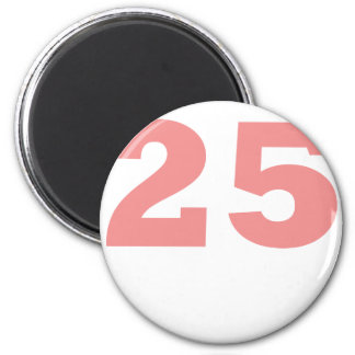 Number 25! 2 inch round magnet
