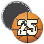 Number 25 Basketball Magnets