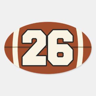 Number 26 Football Sticker