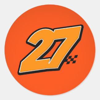 Number 27 - Sticker