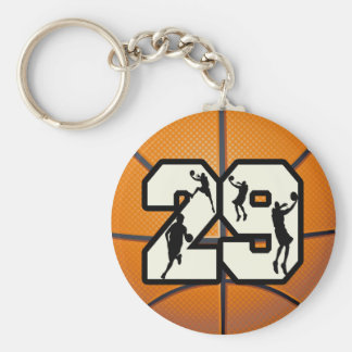 Number 29 Basketball Keychain
