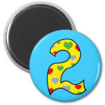 Number 2 2 inch round magnet