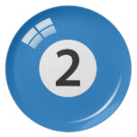 Number 2 billiard or pool ball novelty plate