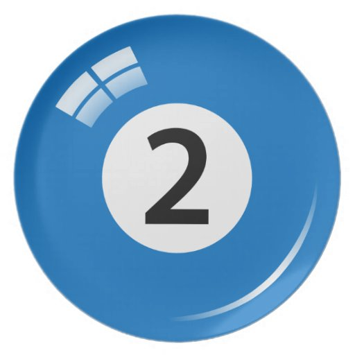 Number 2 Billiard Or Pool Ball Novelty Plate Zazzle