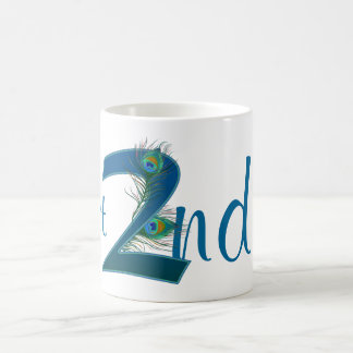 Number 2 or 2nd numeric design mugs