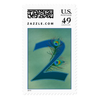 Number 2 or 2nd numeric design postage stamps