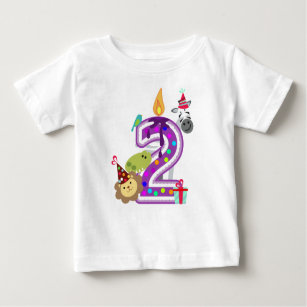 Number 2 Second Birthday T Shirt For Kids