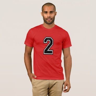 Number 2 Sports Jersey T-Shirt
