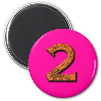 Number 2 Teaching or Memory Magnet