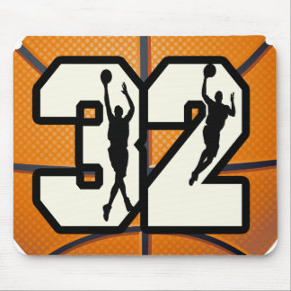 Number 32 Basketball Mouse Pad