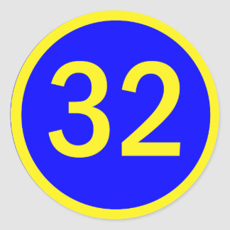 238 Number 32 Stickers And Number 32 Sticker Designs Zazzle