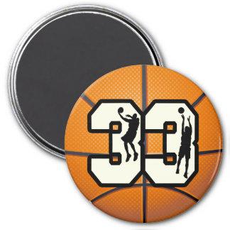 Number 33 Basketball Fridge Magnets