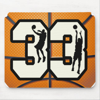 Number 33 Basketball Mouse Pad