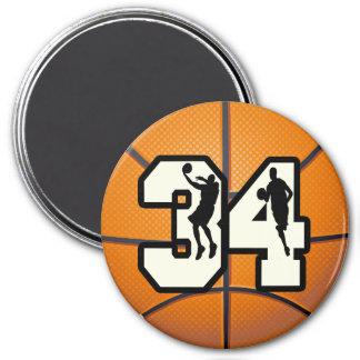 Number 34 Basketball Fridge Magnets