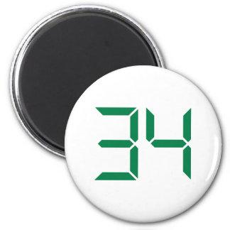 Number – 34 magnet