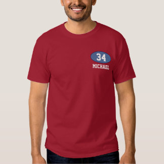 number 34 with name tee shirt