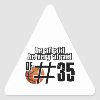 Number 35 Basketball designs Triangle Sticker