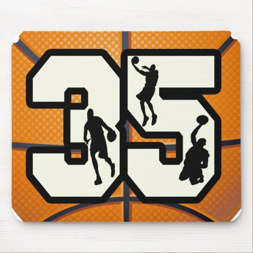 Number 35 Basketball Mouse Pad