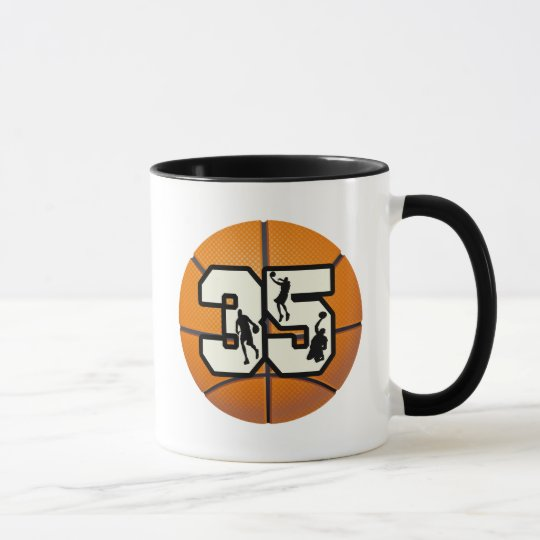 Number 35 Basketball Mug