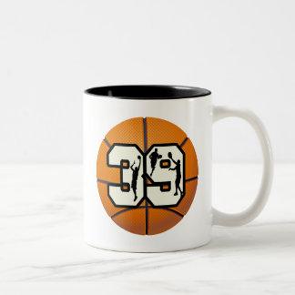 Number 39 Basketball Two-Tone Coffee Mug