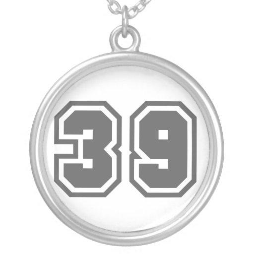 Number 39 custom jewelry