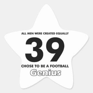 Number 39 designs star sticker