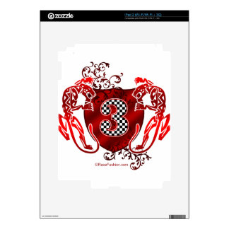 number 3 auto racing tigers skin for iPad 2